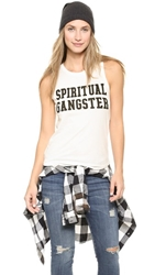 Spiritual Gangster Collegiate Muscle Tee Moonbeam
