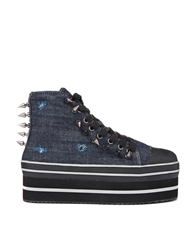 Yru Elevation Denim Platform Trainer