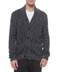Vince Shawl Collar Cardigan Charcoal Grey Women's