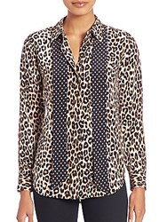 Equipment Kate Moss For Leopard Print Silk Blouse Natural