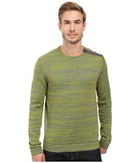 Calvin Klein Cotton Acrylic Faux Suede Zip Sweater Bitter Lime Combo Men's Sweater Yellow