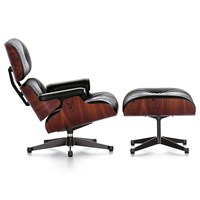 Vitra Lch Xl Lounge Chair And Ottoman Santos Palisander Black