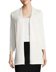 Nipon Boutique Textured Open Front Cardigan Ivory