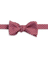 Brooks Brothers Sailboat Silk Bow Tie Red