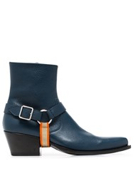 Calvin Klein 205W39nyc Harness Detail Boots Blue