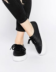 Asos Dixie Lace Up Trainers Black