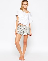 Minkpink You Gotta Be Pudding Me Christmas Pyjama Shorts Multicoloured