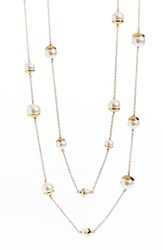 Women's St. John Collection Glass Pearl And Chain Rope Necklace
