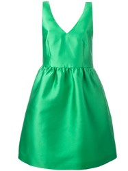 P.A.R.O.S.H. Flared Sleeveless Dress Green