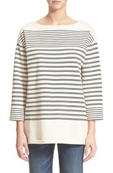 Women's Vince Nautical Stripe Cotton Pullover