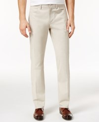 Alfani Men's Flat Front Stretch Slim Fit Pants Only At Macy's Stone Block Combo