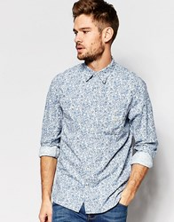 Denim And Supply Ralph Lauren Shirt With Floral Print In Classic Regular Fit Bluefloral