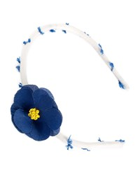 Pili Carrera Girls' Flower Headband Navy Pattern White