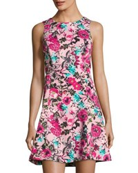 Kensie Floral Print A Line Dress Multi
