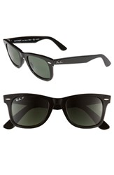 Women's Ray Ban 'Classic Wayfarer' 50Mm Polarized Sunglasses Black Polarized