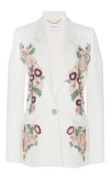 Zuhair Murad Multicolor Embroidered Jacket White