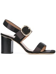 Paul Smith Two Strap Chunky Sandals Women Leather 36 Black