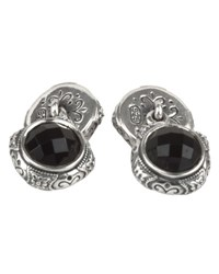 Konstantino Aeolus Sterling Silver And Onyx Cuff Links