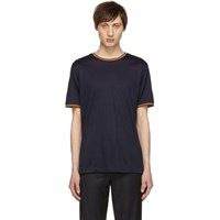 Paul Smith Navy Multi Stripe T Shirt