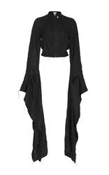 Loewe Cascading Flared Sleeve Jacket Black