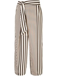 Loveless Belted Wide Leg Trousers White