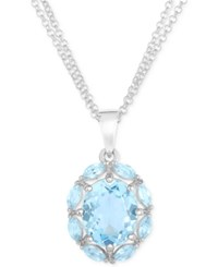 Victoria Townsend Blue Topaz 5 Ct. T.W. Pendant Necklace In Sterling Silver