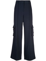 Cinq A Sept Kai Wide Leg Trousers Blue