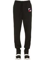 Burberry Logo Patch Cotton Jersey Sweatpants Black