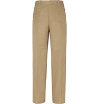 Alexander Mcqueen Wide Leg Cotton Trousers Neutrals