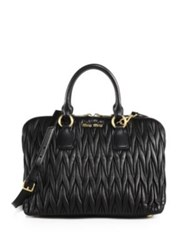 Miu Miu Matelasse Large Satchel Nero Black