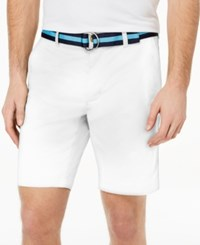 Club Room Men's Classic Fit Stretch Shorts Created For Macy's Bright White