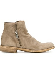Officine Creative Zipped Ankle Boots Nude And Neutrals