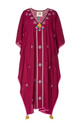 Figue Eliza Utopian Embroidered Kaftan Purple