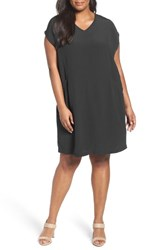 Eileen Fisher Plus Size Women's Crinkle Crepe Shift Dress