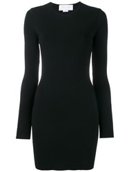 Esteban Cortazar Open Back Fitted Minidress Black