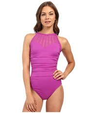 Magicsuit Solids Anastasia One Piece Orchid Women's Swimsuits One Piece Purple