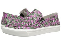 Crocs Citilane Roka Graphic Slip On Black Floral Women's Slip On Shoes