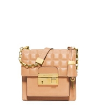 Michael Kors Gia Small Quilted Leather Crossbody Peanut