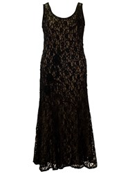 Chesca Cornelli Dress With Contrast Lining Black Champagne