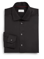 Eton Of Sweden Contemporary Fit Cotton Twill Shirt Black
