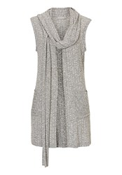 Betty And Co. Textured Fine Knit Cardigan Grey