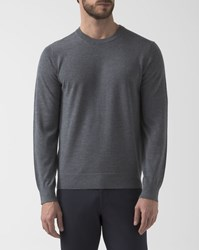 Theory Grey Crew Neck Pullover