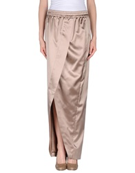 Brunello Cucinelli Long Skirts Skin Color