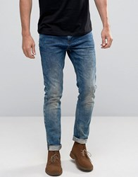Scotch And Soda Washed Skinny Jeans Blue