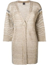 Lorena Antoniazzi Loose Knit Cardigan Neutrals