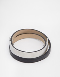 Seven London Wraparound Metal Bar Bracelet Black