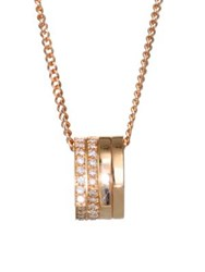 Repossi Antifer Pave Diamond And 18K Rose Gold Four Row Pendant Necklace