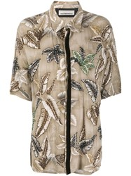 Night Market Hawaii Short Sleeve Shirt Neutrals