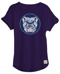 Retro Brand Women's Butler Bulldogs Slub Rolled Sleeve T Shirt Navy