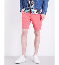 Paul Smith Regular Fit Mid Rise Stretch Cotton Shorts Pink
